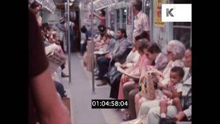 Busy New York Subway, 1970s in HD from 35mm