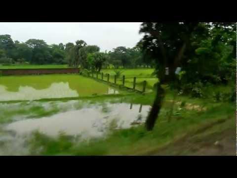 Driving in Bangladesh countryside