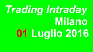 Trading Intraday - Milano 01.07.2016