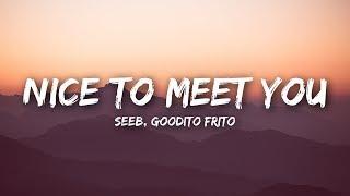 Seeb - Nice To Meet You (Lyrics / Lyrics Video) ft. Goodito Frito