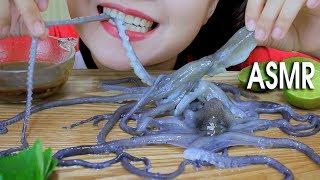 ASMR Mukbang Eating Alive Octopus (exotic Food) Eating Sounds Part 04 먹방    LINH ASMR