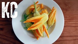 Fried Squash Blossom Recipe   Stuffed with Ricotta and Pecorino