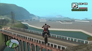 GTA San Andreas - How to cross the bridge at The Panopticon with invisible barriers in place-video 2