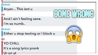 "SONG LYRICS PRANK ""Jocelyn Flores - xxxtentacion"" GONE WRONG! (He blocked me)"