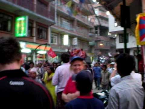 Kathmandu-Maoists celebrating a victory in election