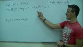 Imagen en miniatura para Ecuacion logaritmica 01
