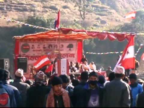 Nepal – bijeenkomst politieke partij Nepali Congress
