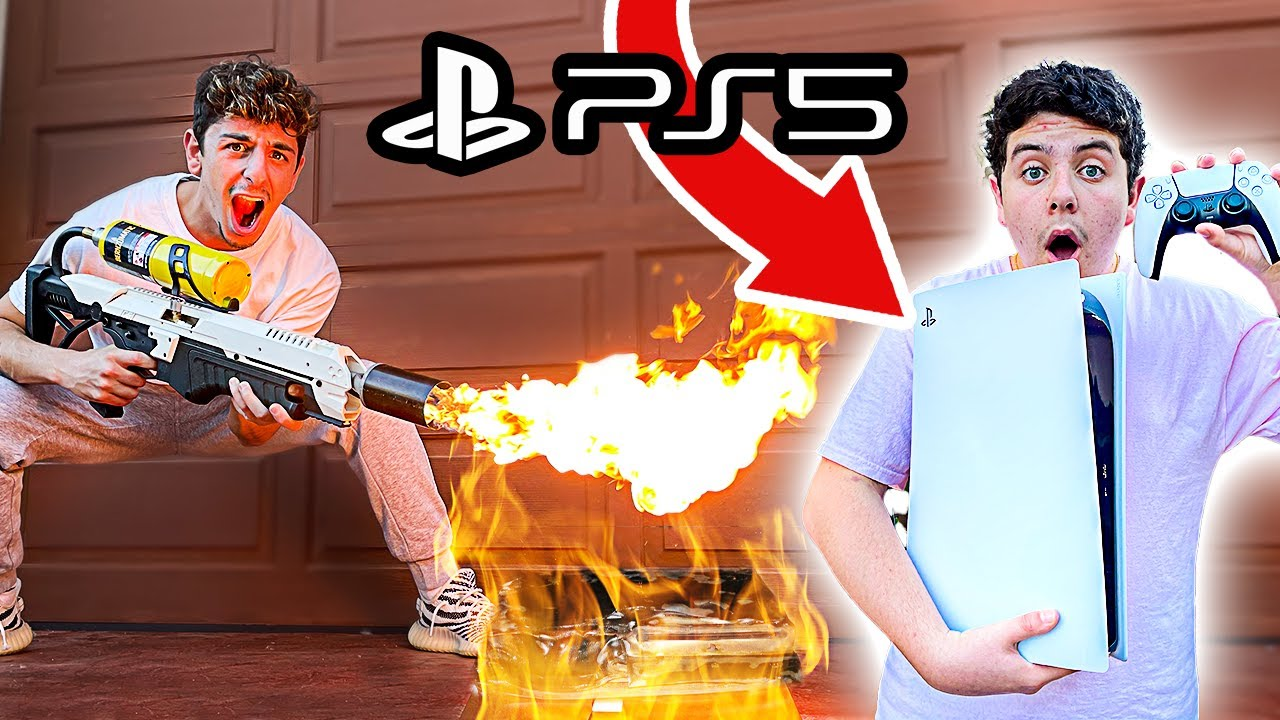 Rug - Destroying Kids PS4 & Surprising Him With NEW PS5! (GIVEAWAY)