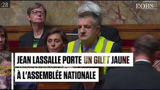 Jean Lassalle porte un gilet jaune à l'Assemblée nationale, la séance est suspendue