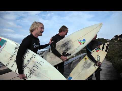 Tim Charody goes surfing in JBay