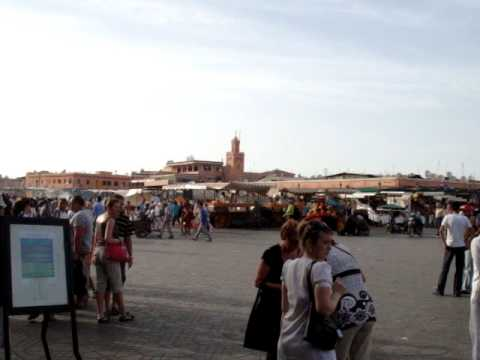 At the Djemaa el Fna, Marrakech,  Morocco