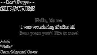 Adele - Hello (Lyric) Conor Maynard (Cover)