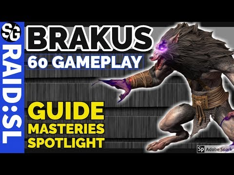 RAID SHADOW LEGENDS | BRAKUS WEREWOLF LEGENDARY GAMEPLAY