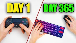 My 365 Day Fortnite CONTROLLER to KEYBOARD and MOUSE Progression…