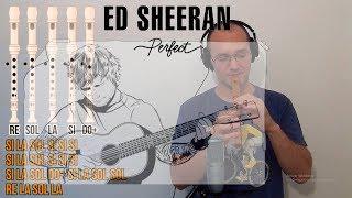 Perfect - Ed Sheeran - Para flauta dulce - Cover con notas - Tutorial