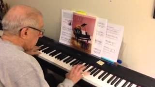 Tom playing sunrise serenade