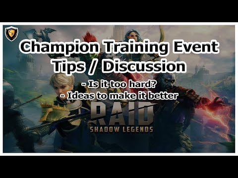 RAID Shadow Legends | Champion Training Event | Tips / Discussion