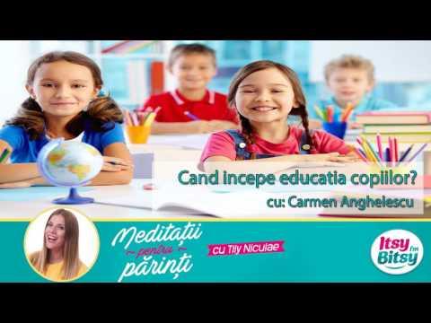 Cand incepe educatia copiilor?