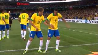 Neymar and Robinho Funny Dance