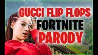 """BHAD BHABIE feat. Lil Yachty - """"Gucci Flip Flops"""" FORTNITE PARODY"""
