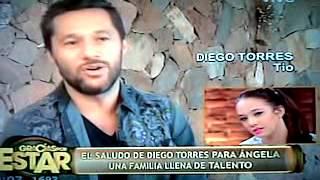 Diego Torres saludando a ange en Gracias por venir