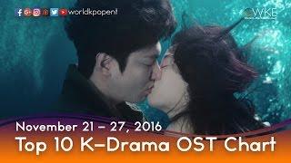 Top 10 K-Drama OST Chart (November 21 - 27, 2016)