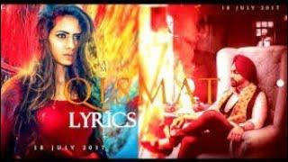QISMAT LYRICS – Ammy Virk  Feat. Sargun Mehta