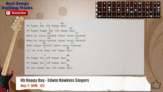 Oh Happy Day - Edwin Hawkins Singers Bass Backing Track with chords and lyrics