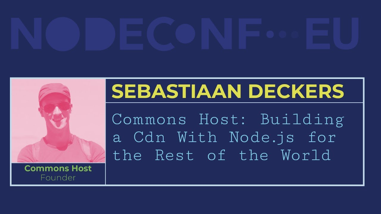 Thumbnail of video presentation about Commons Host at Nodeconf.eu