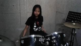 """Tipe X ,""""Salam Rindu""""  Drum Cover by Nadira Nuha Agristya"""