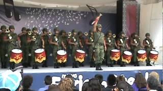 "Banda de guerra interpretando la marcha ""La Coqueta"""