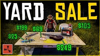 Running a YARD SALE and SELLING our LOOT - Rust Shop Roleplay