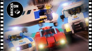LEGO CITY POLICE High Speed Chase Part 2 Catch The Crook Stop Motion Animation Escape Arrest