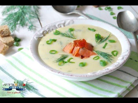 Supa Crema de Cartofi cu Somon Afumat
