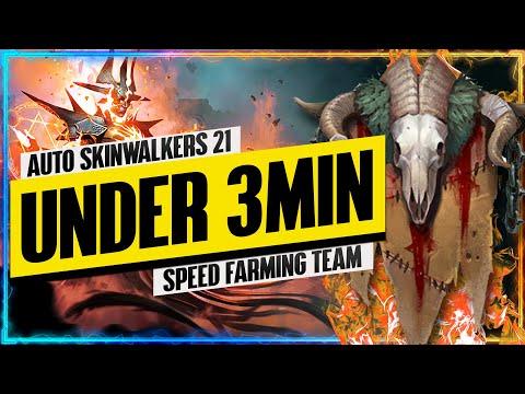 "Skinwalkers 21 UNDER 3MIN ""Speed Farming"" Team | Faction Wars Guide | RAID: Shadow Legends"