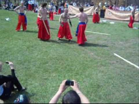 24.04.2011 Zaporizhzhya Ukraine Easter Cossacks Hortyca.wmv