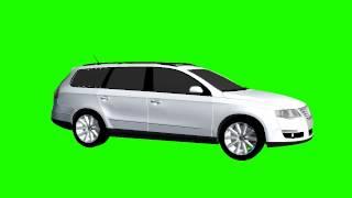 VW Passat 3C white ratate chroma key - greenscreen
