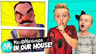 Hello Neighbor in Real Life Game for Kids | KIDCITY