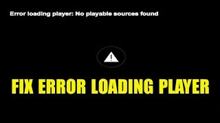 Fix error loading player firefox ✔