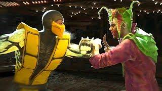 Injustice 2 - Sub-Zero Vs Joker All  Intro Dialogue/All Clash Quotes, Super Moves