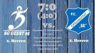 Highlights SG Geest 05 II vs. FC Offenbüttel II - 26.03.2017