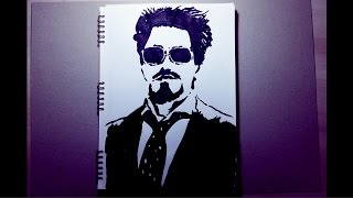 How to draw Robert Downey Jr.