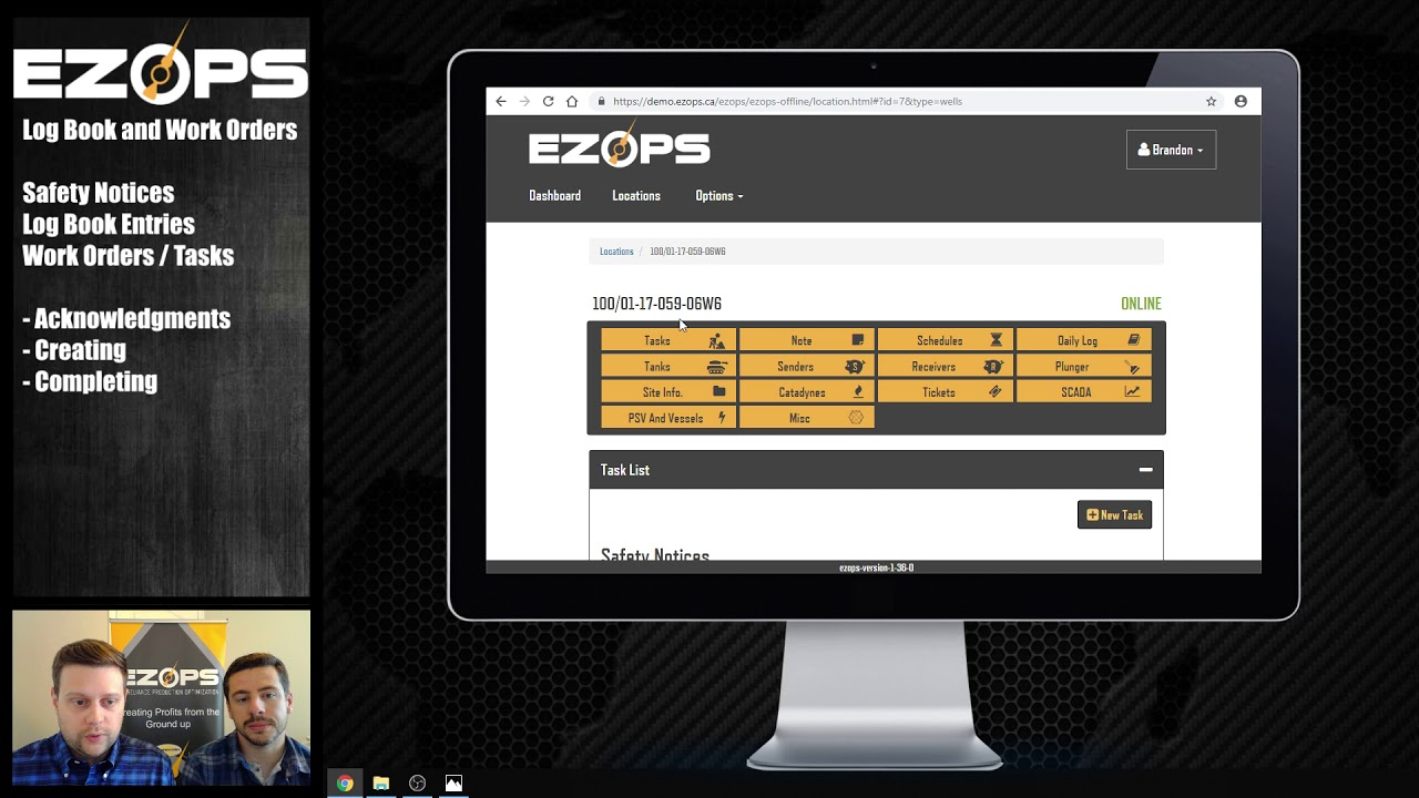 Optimized tasking: How EZ Ops digitizes tasks, work orders, notices, and logs Video