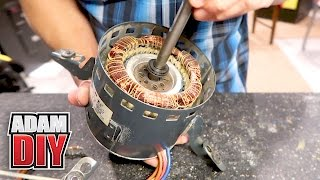 How to oil electric HVAC fan motors with no port - Squeaky Furnace Repair width=
