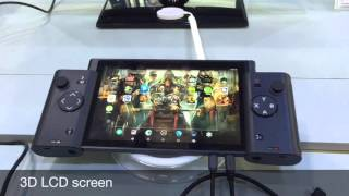 3D gaming tablet with wireless detachable controllers