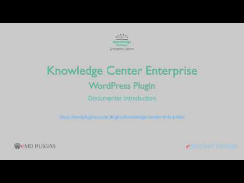 Knowledge Center Enterprise – Documenter Introduction