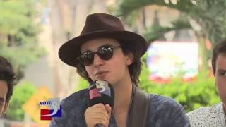 Morat la banda musical que compartio escenario con Paulina Rubio