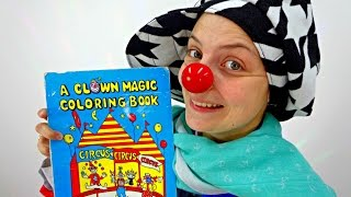 Funny clown videos for kids. Le Clown and the magic colouring book
