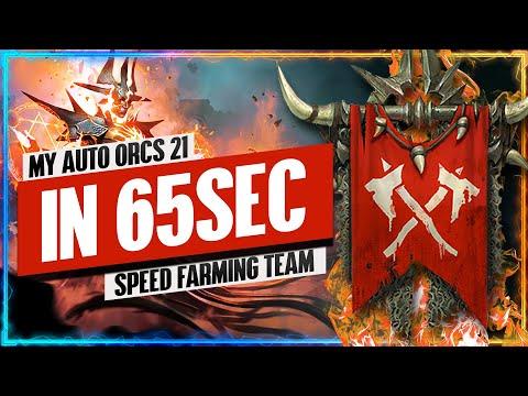 "Orcs 21 IN 65SEC ""Speed Farming"" Team | Faction Wars Guide | RAID: Shadow Legends"