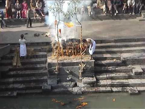 Cremation at Pashupathinath Nepal.